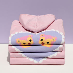 Pink Bears Over Sized Hoodie