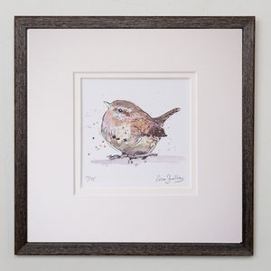 Limited Edition, Garden Bird Print, Wren - limited edition art