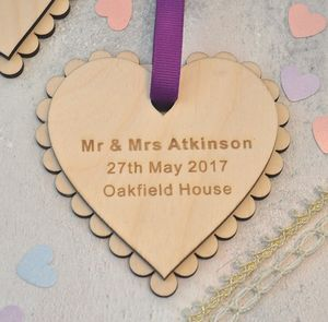 Personalised Wedding Keepsake Heart - wedding favours