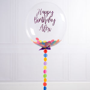 Personalised Birthday Confetti Filled Balloon - children's birthday