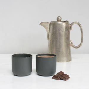 Set Of Two Handmade Ceramic Expresso Cups
