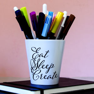 Creativity Quote Pen Holder Desk Tidy - crafting