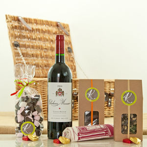 Chateau Musar Red Wine And Artisan Chocolates - hampers