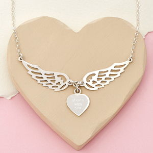 'Always With You' Guardian Angel Wing Necklace