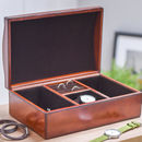 Personalised Leather Jewellery Box With Curved Lid