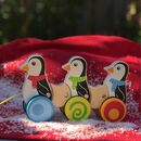 Children's Wooden Pull Along Penguins