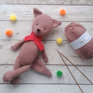 Woodland Fox Knitting Kit