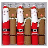 Box Of Six Santa And Reindeer Crackers - christmas decorations