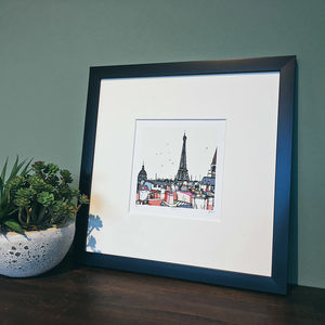 Paris Rooftops Signed And Limited Edition Print - posters & prints