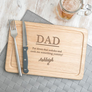 Personalised Boyfriend / Husband Cheeky Chopping Board