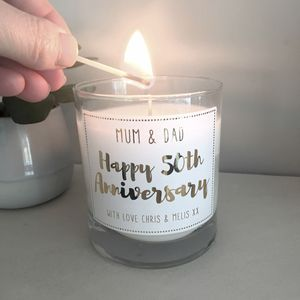 Anniversary Personalised Candle