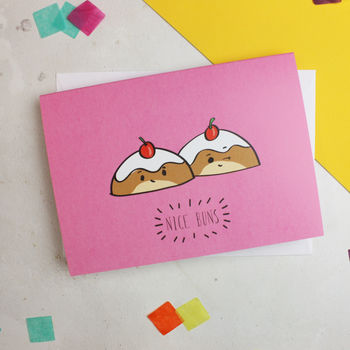 'Nice Buns' Cheeky Anniversary Card For Couples