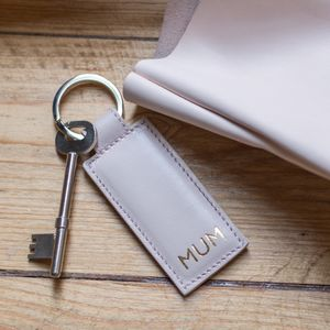 Personalised Leather Key Ring - housewarming gifts