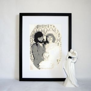 Personalised Family Portrait Layered Papercut