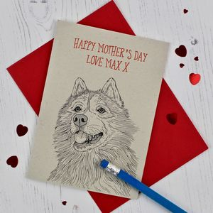 Husky Mother's Day Card