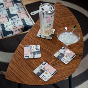 Boxed Set Of Midcentury 'Starlight' Coasters