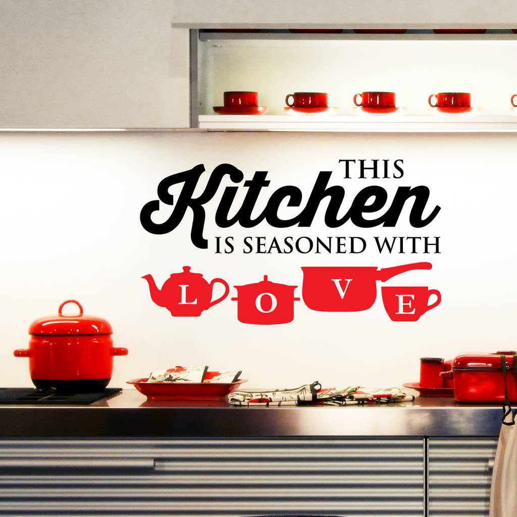 Kitchen Wall Stickers: Kitchen Wall Stickers By Wall Art Quotes & Designs By