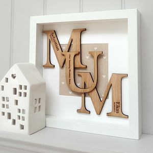 Our Amazing Mum Personalised Oak Letters