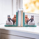 Personalised Wooden Cat Bookends