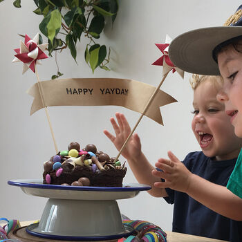 Limited Edition Personalised Star Cake Topper Banner