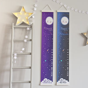 Personalised Reach For The Stars Height Chart - new in home