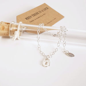 Lock Silver Charm Bracelet - new in jewellery