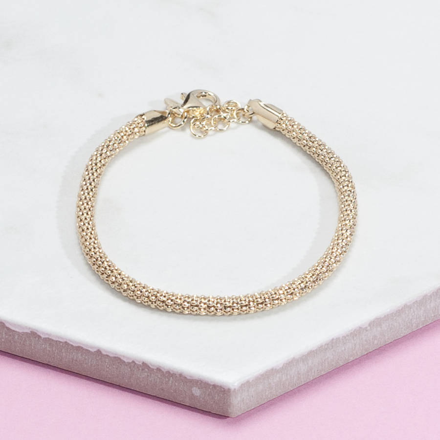 by loelandco rose bracelets diamond cut co in original product loel bracelet chain gold silver