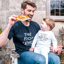 Personalised Food Father Daddy And Me T Shirt Set