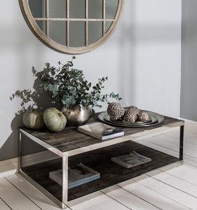 Kingswood Oak And Steel Coffee Table - furniture
