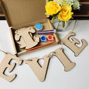 Paint Your Own Name Bunting Letterbox Craft Kit