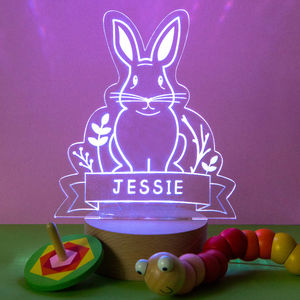 Personalised Rabbit Baby Night Light - children's room