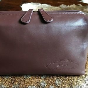 Luxury Leather Wash Bag - wash & toiletry bags