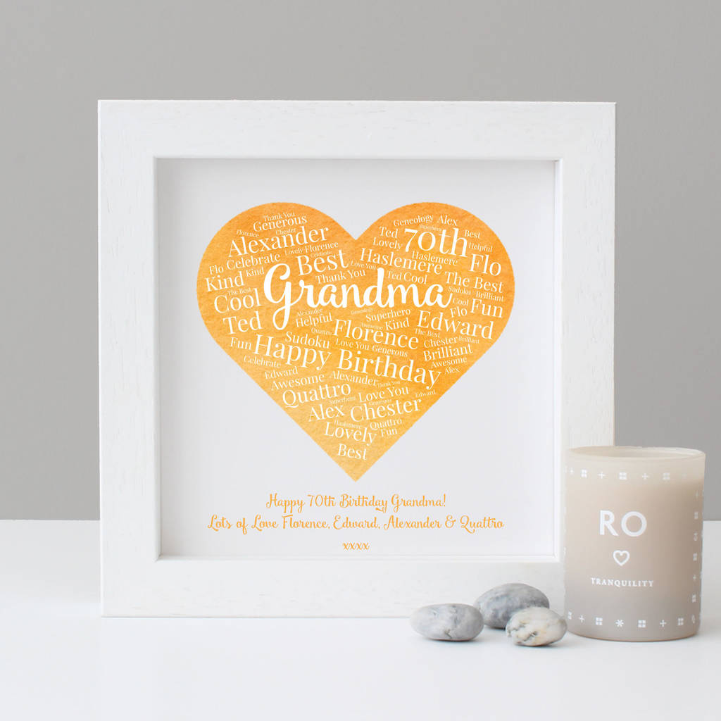 971afc399 personalised watercolour 70th birthday gift by hope and love ...