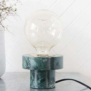 Green Marble Desk Lamp - table lamps