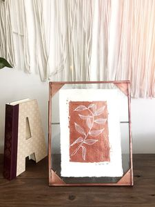Copper Botanical Original Artwork - paintings