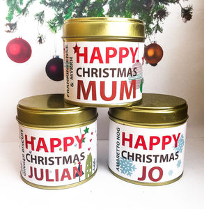 Personalised Christmas Candle In A Can
