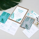 Botanical Tropical Watercolour Wedding Invitation Set