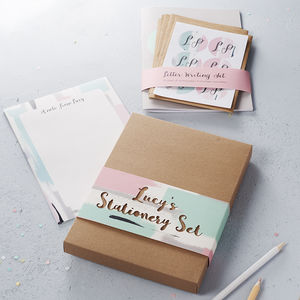 Personalised Stationery Gift Set : Heart - 50th birthday gifts