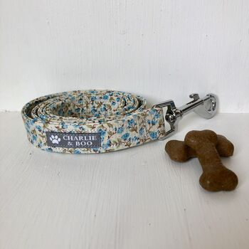 Blue Floral Dog Lead/Leash