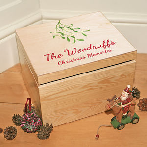 Personalised Christmas Memory Box - storage & organisers