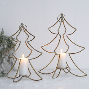 Hanging Christmas Tree Candle Holder - winter sale