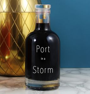 'Port In A Storm' Vintage Alcohol Decanter