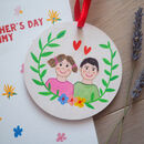 Mother's Day Card With Personalised Hand Painted Gift