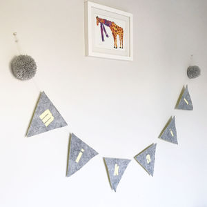 Personalised Felt Name Bunting - bunting & garlands