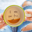 I Miss Your Face Hidden Message Cup