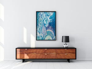 Blue Unicorn Print