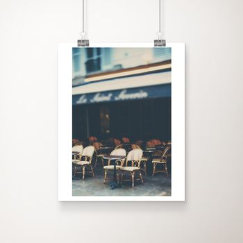 A Parisian Cafe Fine Art Photographic Print