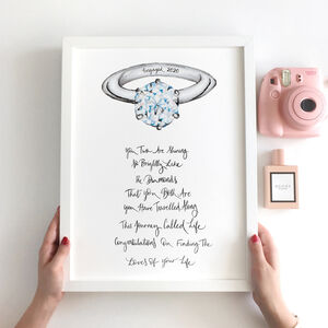 Personalised Engagement Poem Gift