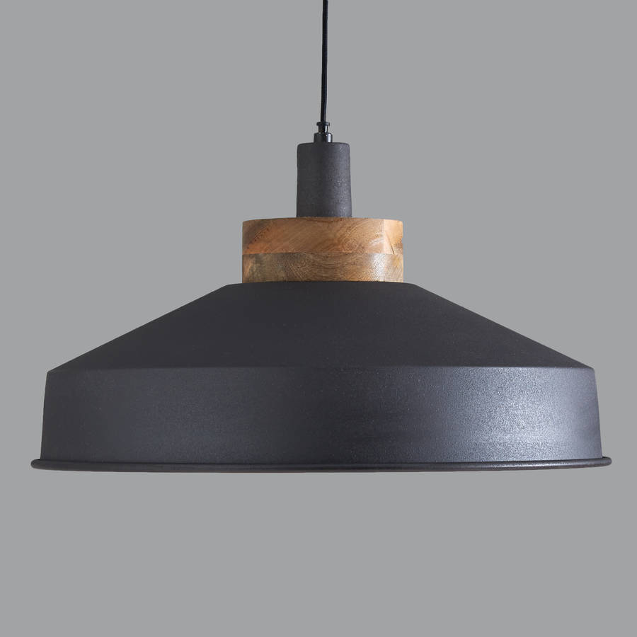 Cosmos Graphite And Copper Pendant Light By Horsfall