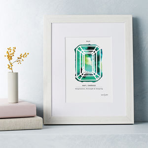 Personalised Paper Cut Birthstone Print - free delivery gifts to mainland UK